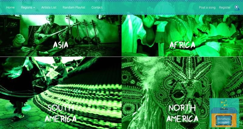 世界中の民族音楽が聞けるサイト folkcloud.com
